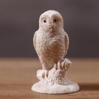 杂货 新奇特树脂仿真动物摆件 书桌摆件拍摄道具 树脂工艺品 5.1*5.1*8.2 猫头鹰