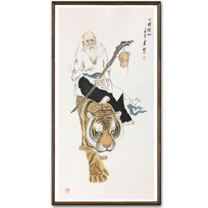 姚桂元《二祖调心》著名画家