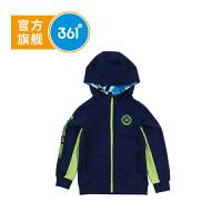 【叠券预估价:51.6】361° 361度童装 男童外套连帽针织外套春季儿童外套 K51812403