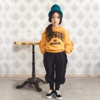 韩国童装冬季新款女童加绒加厚长裤韩版中大童冬装宽松哈伦裤