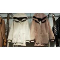 20180422081401245R5冬装新款韩版仿貂绒小个子毛呢外套 女装短款 呢子大衣1.2