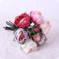 仿真花北欧式牡丹花假花客厅装饰绢花假花摆件餐桌西洋手捧花束