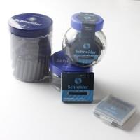 施耐德墨水墨囊5盒送2盒非碳素墨水胆蓝色黑色施耐德钢笔墨水买