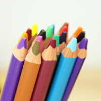 MARCO马可油彩铅笔 12/24色油画棒彩色铅笔 柔软粗芯1650粗杆彩铅