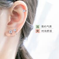 无耳洞耳夹耳钉女耳骨夹日韩版无需耳洞人工钻石耳环 一对价格