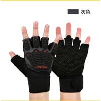 健身手套器械男女运动手套半指耐磨防滑杠铃卧推预售11月30号发货 灰色 M合适手围17--19cm