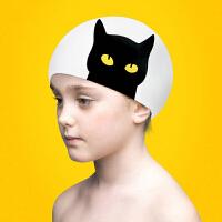 新款儿童泳帽 硅胶防水男女童泳帽 防水护耳不勒头游泳帽 均码