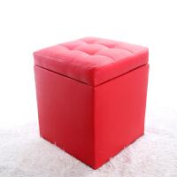 实木储物凳收纳箱皮凳床尾凳试换鞋凳沙发��化妆凳钢琴小凳子 80L 长80*宽40*高42