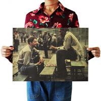 肖申克的救赎海报经典电影牛皮纸海报画宿舍酒吧咖啡馆装饰墙壁贴画 乳白色 肖申克的救赎1 51*36厘米