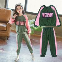 女童运动套装春款韩版童装中大童纯棉卫衣儿童长裤休闲两件套潮衣