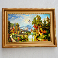 实木欧式500片1000片拼图框24寸大相框挂墙 十字绣画框定做油画框