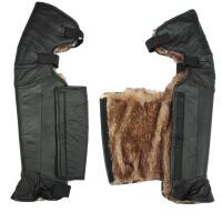 护膝 摩托车电动车护膝 加厚保暖防风骑行护腿男女摩托车全包护膝保暖冬季 黑色 均码