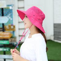 户外防晒帽子时尚男女士钓鱼帽运动遮阳帽防蚊虫骑行帽护脸脖潮