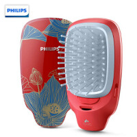 飞利浦(Philips) 负离子梳 按摩梳造型美发梳呵护头发防静电梳子颐和园联名女神专属礼盒HP4722/35BP红色