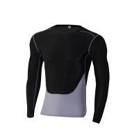 新款秋冬紧身衣男运动长袖紧身服跑步训练长袖圆领透气排汗速干健身服