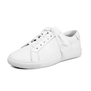 O'SHELL法国欧希尔新品065-025-1休闲头层牛皮里外全皮真皮平底女士小白鞋