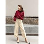七格格衬衫女韩版学生2019新款秋季宽松纯色长袖洋气百搭时尚上衣