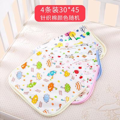 婴儿隔尿垫防水超大透气可洗棉新生儿童宝宝大床单姨妈小床垫1uk印花 防水 透气