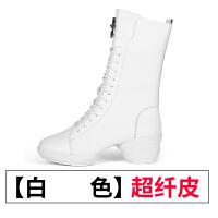 冬季舞蹈鞋女 软底中跟 2017新款水兵舞靴子广场舞鞋女