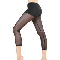 舞蹈瑜珈七分打底裤芭蕾舞护腿袜紧身芭蕾裤氨纶网纱亏本