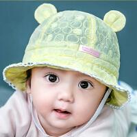 婴儿帽子0-12个月女宝宝夏季盆帽遮阳帽渔夫帽