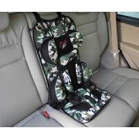 简易儿童安全座椅增高垫汽车用车载坐椅婴儿坐垫宝宝便携式背带 军绿色 增高垫3-12岁