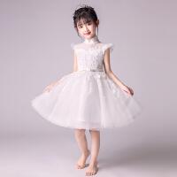 儿童公主裙蓬蓬纱婚纱女孩模特走秀小礼服主持人钢琴演出服夏