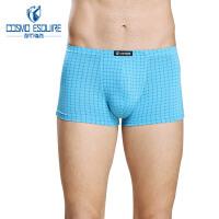 【可用30券】都市丽人男士内裤锋尚系列经典舒适格子平角内裤男士FK6C04