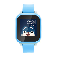 搜狗糖猫E2儿童电话手表学生gps定位智能防水多功能 蓝