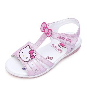 Hello Kitty童鞋女童凉鞋夏季公主鞋新款露趾学生凉鞋沙滩鞋