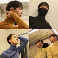 冬季纯色男士简约打底衫高领毛衣韩版修身青年英伦针织衫