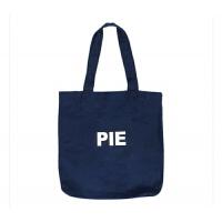 韩国简约字母港风帆布袋女手提包大购物袋单肩学生帆布包 藏青色