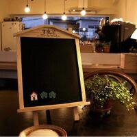 韩版木屋立式挂式两用黑板留言板 磁性小黑板 小房子黑板