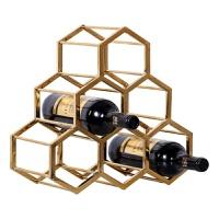 20180623233423967欧式家居客厅酒柜装饰品摆设摆件餐厅奢华创意工艺品葡萄酒红酒架