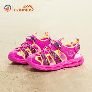 【中秋团圆・满一百减五十】CAMKIDS女童鞋2018夏季款儿童凉鞋中大童漫威男童包头沙滩鞋