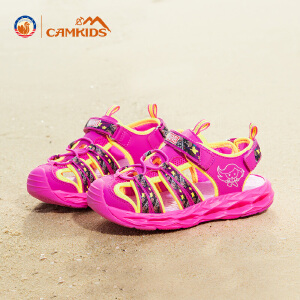 CAMKIDS女童鞋2018夏季款儿童凉鞋中大童漫威男童包头沙滩鞋