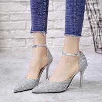 户外法式少女高跟鞋凉鞋时尚单鞋女鞋性感气质罗马鞋