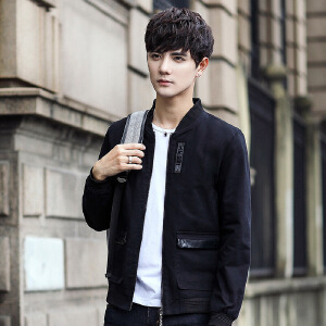 男士春季新款薄外套男夹克潮流春秋韩版休闲青年牛仔2017男装外衣