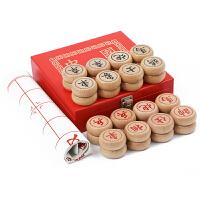 大号象棋木制仿皮棋盘象棋礼品玩具盒装实木雕刻