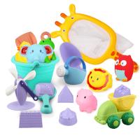 儿童沙子软胶玩具套装儿童玩沙工具小黄鸭宝宝戏水沙滩玩具