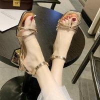 户外时尚女士凉鞋ins潮休闲舒适中跟鞋气质百搭女鞋