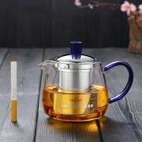 【品牌热卖】沏茶壶玻璃茶壶泡茶杯透明耐热茶具加厚耐高温过滤可加热煮茶器 小茶壶-400ml 圆形杯体
