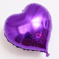 紫色球五星心形铝膜气球加厚百天生日布置派对婚礼结婚庆活动装饰用品氦气飘空气球装饰