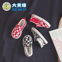 【1件5折价:59.9元】大黄蜂童鞋 男童板鞋低帮运动鞋2021新款小学生透气儿童帆布鞋子