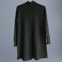 秋冬装羊绒衫女套头中长款半高领山羊绒毛衣打底衫纯色修身连衣裙