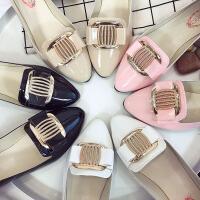 2018新款女鞋韩版春季单鞋女平跟尖头鞋四季浅口百搭平底鞋