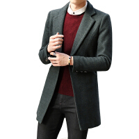 2017秋季新款外套男中长款风衣披风男士夹克帅气韩版修身大衣男潮