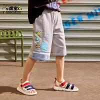 【3件2折:51.6元】小虎宝儿男童短裤儿童五分裤纯棉薄款2021夏季新款中大童潮