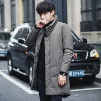 冬季新款男士羽绒服韩版加厚保暖中长款潮流2017青年长款修身外套