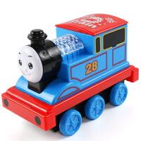 惯性耐摔声光音乐火车卡通滑行小车儿童玩具火车头汽车模型